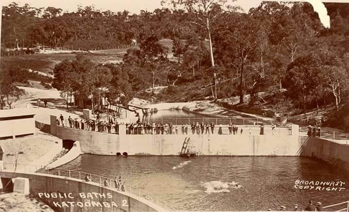 The Public Baths at Katoomba in the Blue Mountains region of New South Wales in 1901.