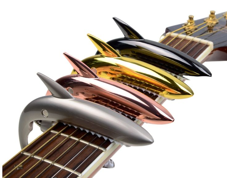 Metal Shark Trigger Style Guitar Capo – Great Guitar Gifts