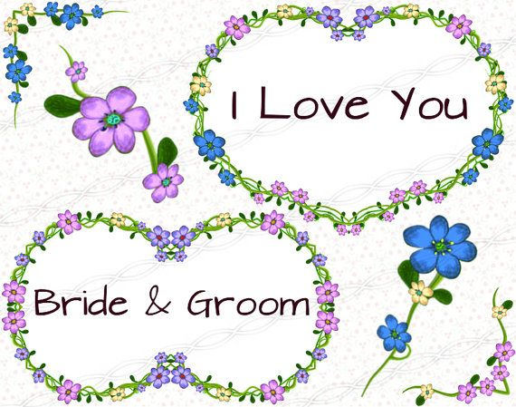 Laurel wreath bloom digital floral hearts circles frames and borders flourish collage sheet clipart.  https://www.etsy.com/listing/244850206/instant-download-png-flower-frame?ref=shop_home_active_21