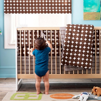 Brown Nursery.... Love polka dots.... Love brown.... Need to find this!