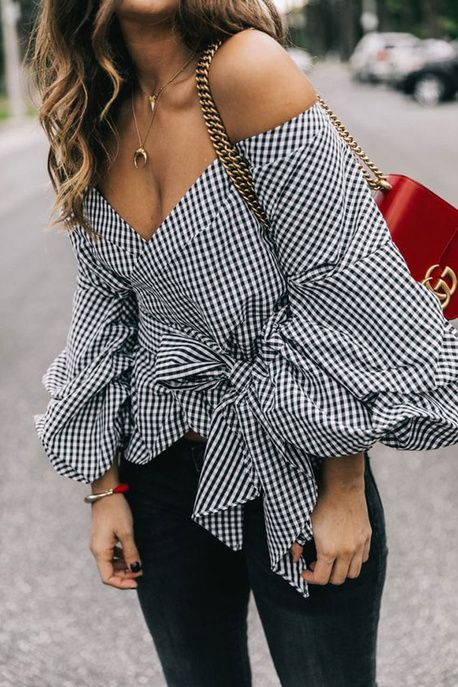 Une blouse Vichy