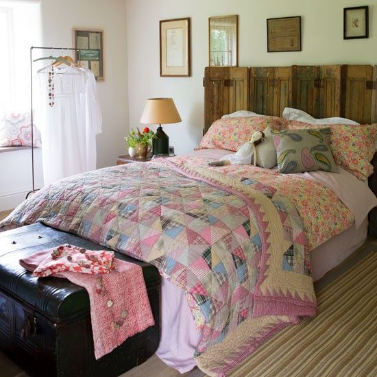 Mix and match quilts and bedlinen... | How to create a prairie-style home | Country decorating ideas | Decorating ideas | PHOTO GALLERY | Country Homes & Interiors | Housetohome