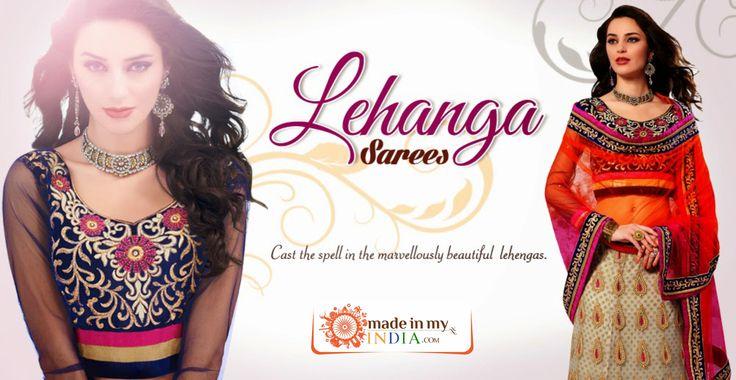 Cast the Spell with the Marvellously Beautiful Lehengas  Explore more @www.madeinmyindia.com Made with love in #India #madeinmyindia #made #with #love #india #ethnic #wear #fashion #clothing #unique #handcrafted #suits #kurtis #lehanga #sarees #Bridal #partywear #embroided #wedding #navaratri #Navaratri2015 #manymore