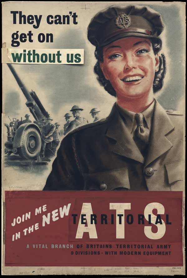 UK World War II pages - . A Forces recruitment poster for ...
