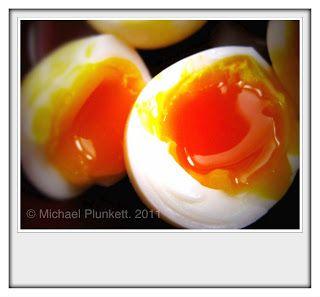mollet eggs - soft yolk, solid white