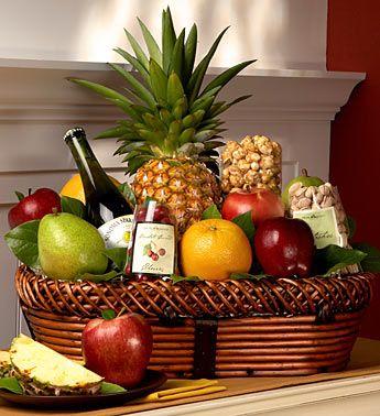 Bountiful Fruit & Gourmet Gift Basket Large