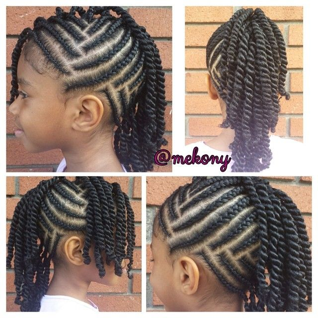 Hairstyles For Black Little Girls little girls hair style cute braided plait hair bow more Find This Pin And More On African Princess Little Black Girl Natural Hair Styles By Curlyconnect