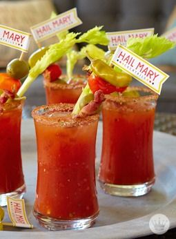 Be prepared for whatever sports occasion may come your way with these 10 game-day recipes and free printables. Plus, with fun football-related names like Bloody Hail Mary cocktails, your guests are sure to get a kick out of these entertaining ideas.