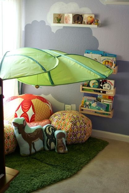 IKEA Green Giant Bed leaf canopy LOVA tropical dorm porch clubhouse kids NEW