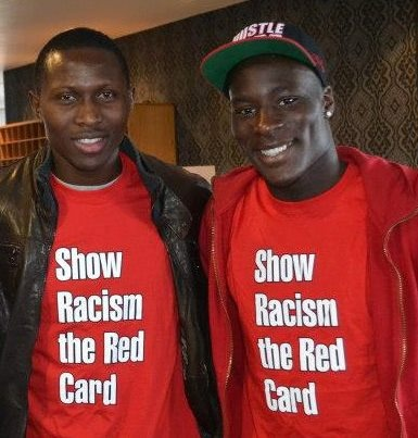 A range of Show Racism the Red Card T-Shirts are available to buy online http://www.theredcard.org/ - as worn by Newcastle United stars Massadio Haidara and Mapou Yanga-Mbiwa Other items, including wristbands, the Show Racism the Red Card magazine and our highly-acclaimed DVDs and Education Packs are also available.