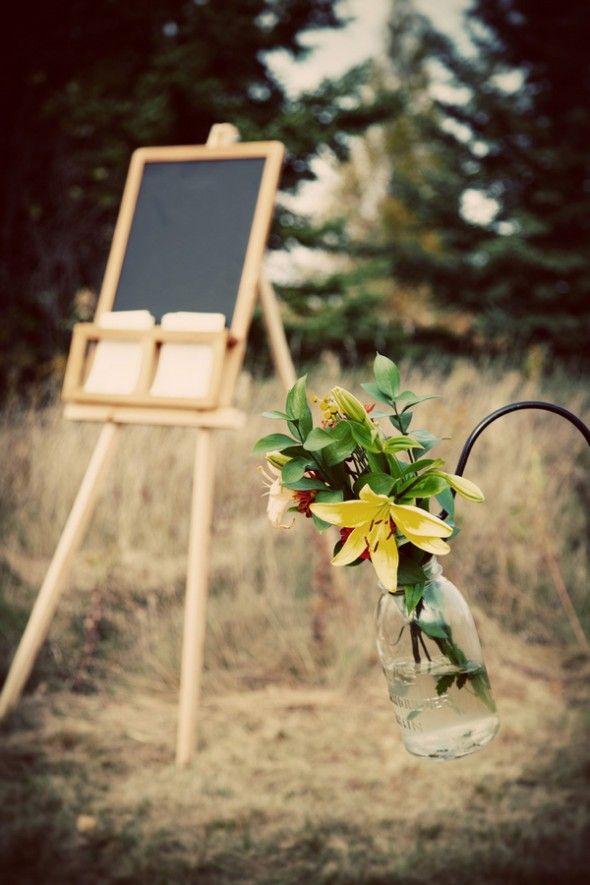 Outdoor Wedding Program Stand
