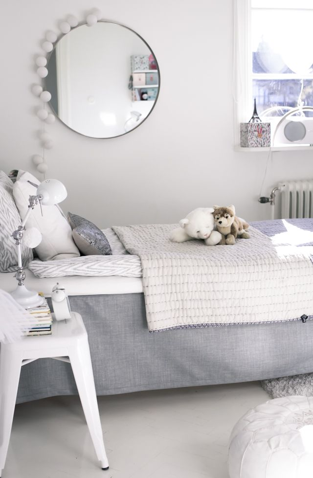 Gray and White Kids Room - Very Classic Look