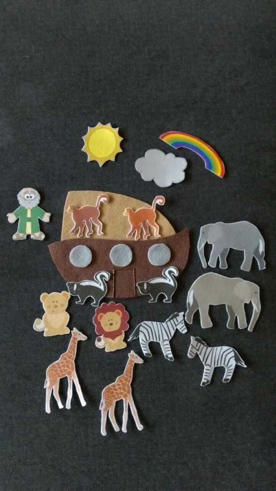 Noah's Ark-Bible Story Felt Board Set// by KidInMeCreations