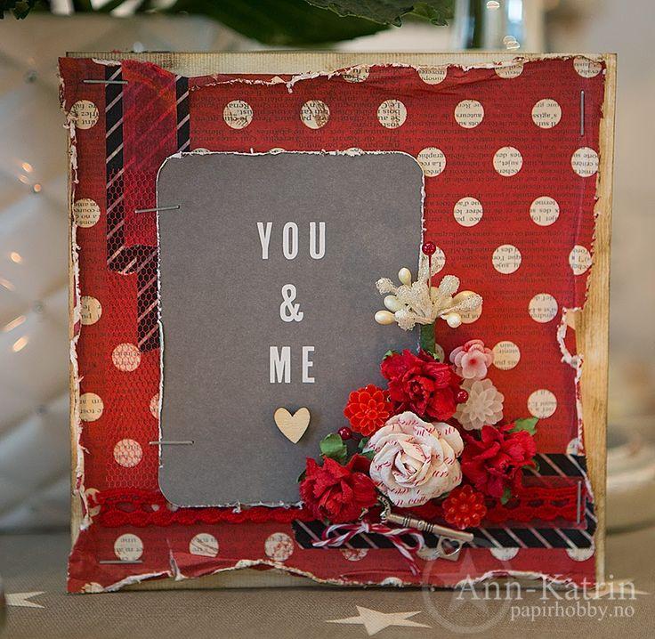 """Andrine og Marens Landhandleri - Blog - """"You & Me"""" Valentines Card by Dt Ann-Katrin."""