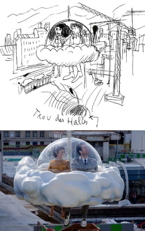 "Original drawing of ""MOOD INDIGO"" (L'Ecume des jours) by Michel Gondry"