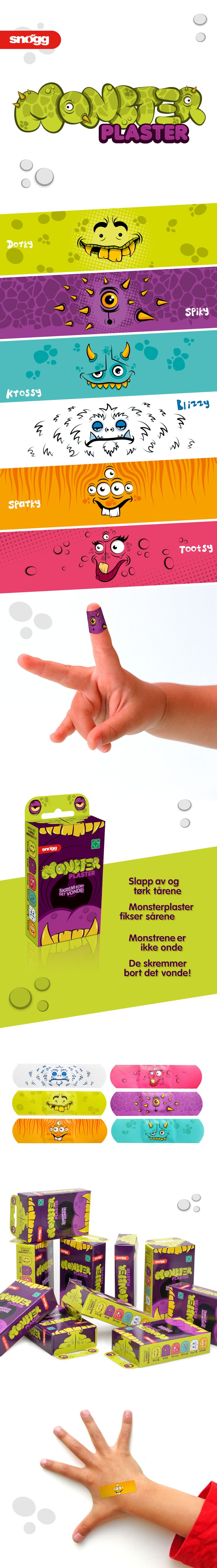 Snøgg - Monsterplaster on Behance