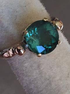 Gold Tourmaline ring.