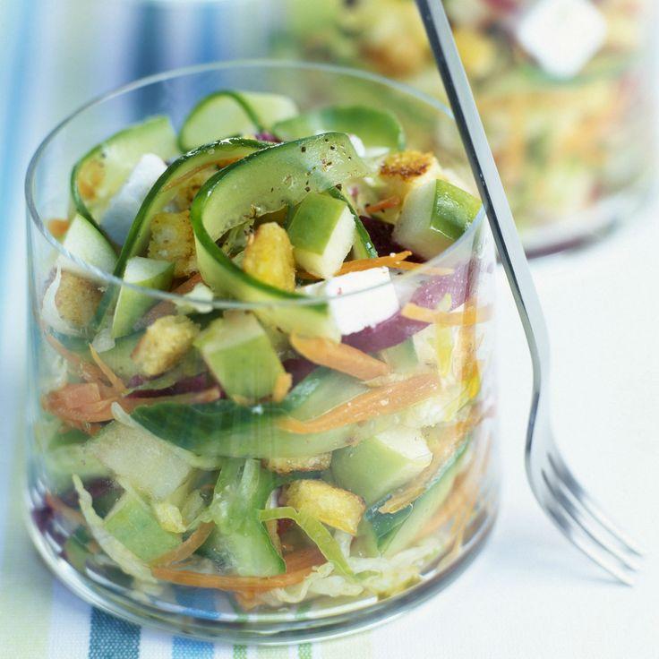 Découvrez la recette de la salade pommes et feta
