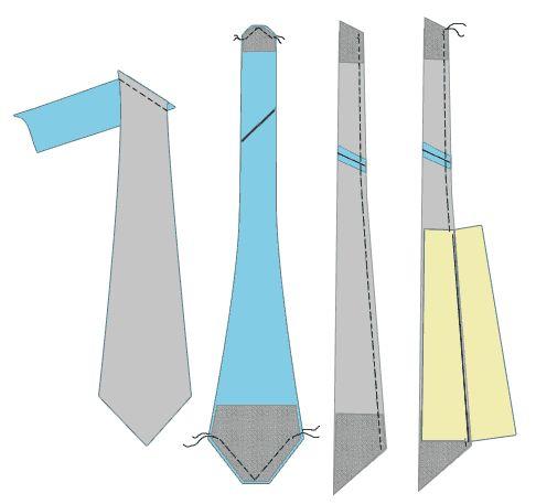 Krawatte nähen | Häkelkrawatte | Pinterest | Sewing, Sewing patterns ...
