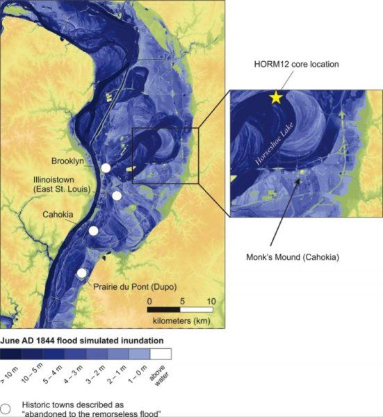 As the river rises: Cahokia's emergence and decline linked to Mississippi River flooding -- ScienceDaily