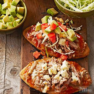 Huaraches con Carnitas From Better Homes and Gardens, ideas and improvement projects for your home and garden plus recipes and entertaining ideas.