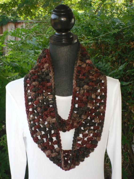 Infinity Eternity Cowl Neck Warmer Scarf Earth by ClusterCrochet, $20.00Clustercrochet, Neck Warmer