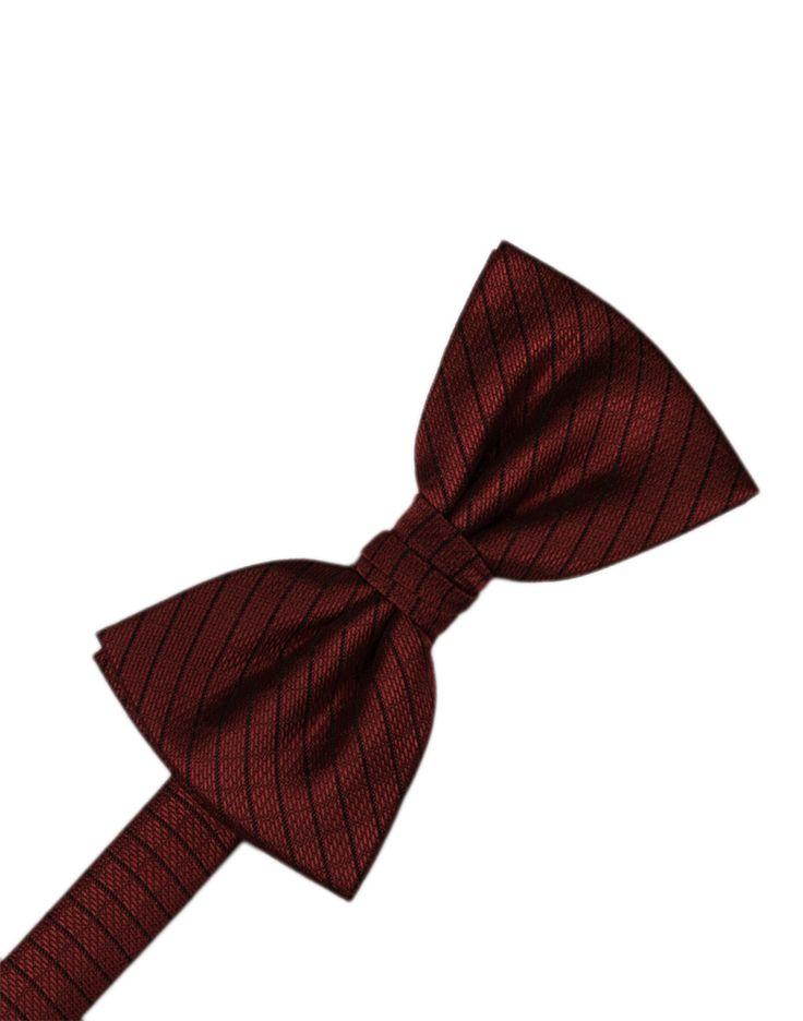 Wine Diamond Grid Pattern Formal Bow Tie