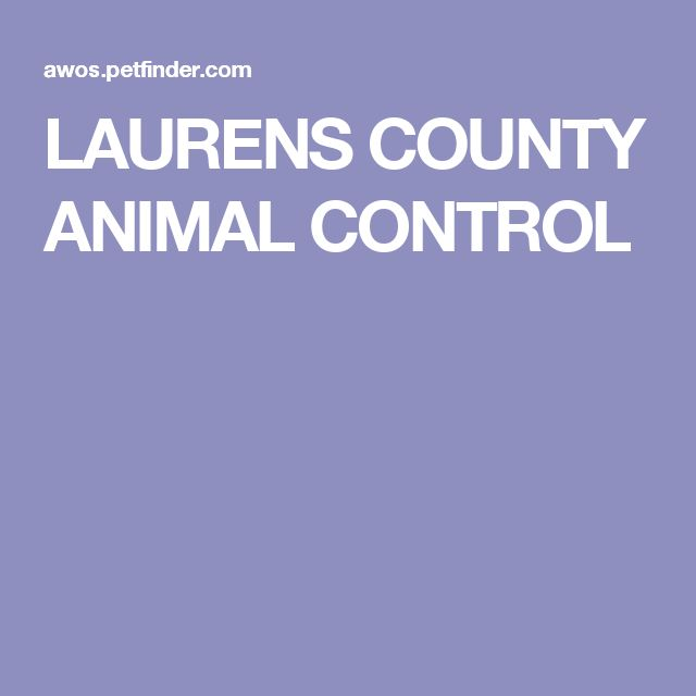 LAURENS COUNTY ANIMAL CONTROL