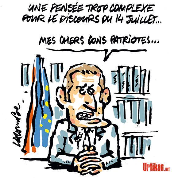 Emmanuel Macron veut rompre avec la traditionnelle interview du 14 Juillet - Dessin du jour - Urtikan.net