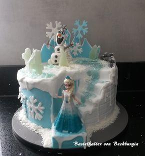 Eiskönigin, Geburtstag, Füllung Erdbeer-Buttercreme, Motivtorte, Mottotorte, Torte, Olaf, Schnee, Eis, Elsa
