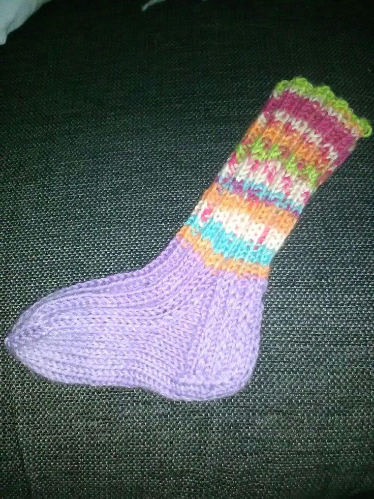 Väriä lasten sukkiin ❤