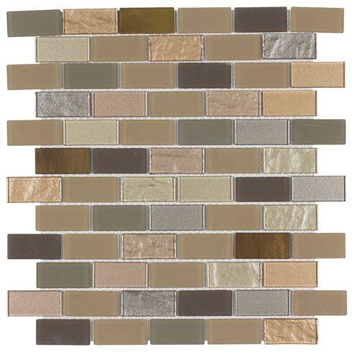Peel & Stick Glass Mosaic Tile Venice - front
