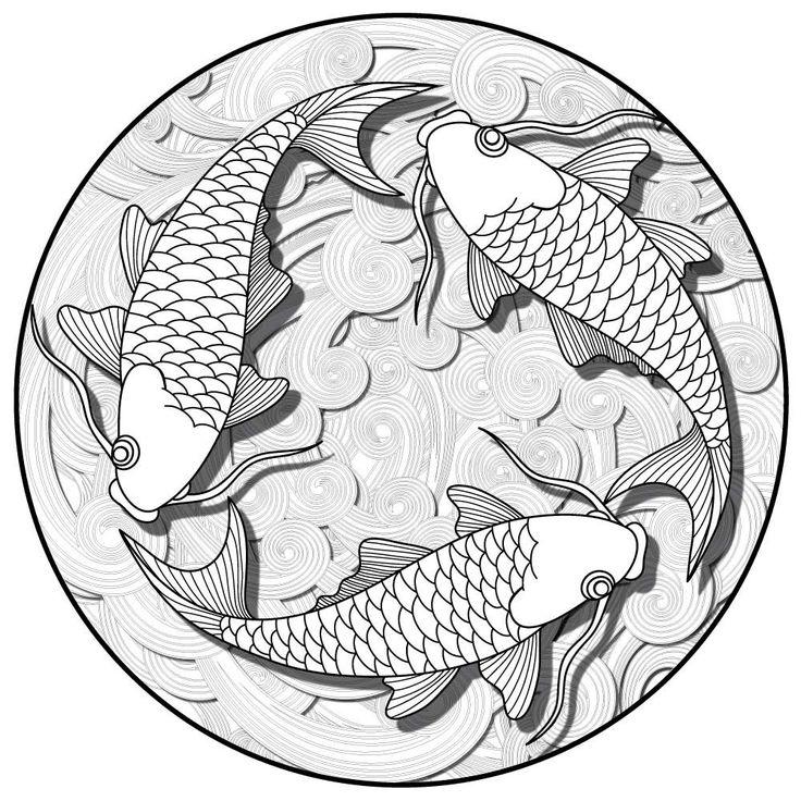 Koi Pond Mandala ColorMe Decal