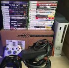 Microsoft Xbox 360 Console 20 GB A/V Cable 2 Controllers 29 Games Bundle Nice!
