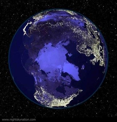 Earth At Night : North Pole