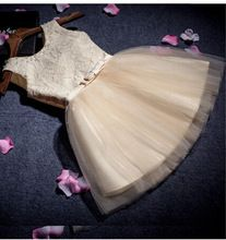 Bloem meisje prinses jurken voor bruiloft pageant wit eerste heilige kant communie jurk little peuter junior kind bruidsmeisje(China (Mainland))