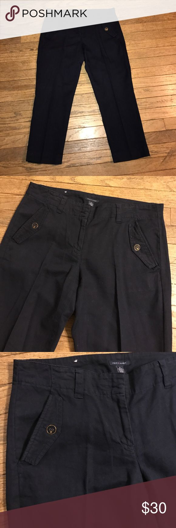 Tommy Hilfiger Ankle Pants Khaki material Navy Ankle pants from Tommy Hilfiger. Adorable and in excellent condition. Worn once. Look great with gray or white tops. From a smoke free home. Tommy Hilfiger Pants Ankle & Cropped
