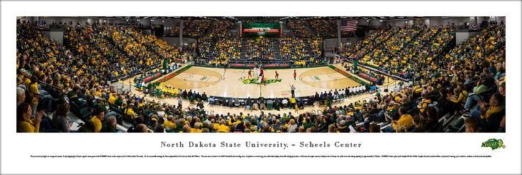 North Dakota State Bison Basketball Panorama - NDSU Scheels Arena Picture - Unframed $29.95