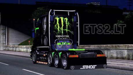 Euro Truck Simulator 2 Scania T Monster Energy Skin