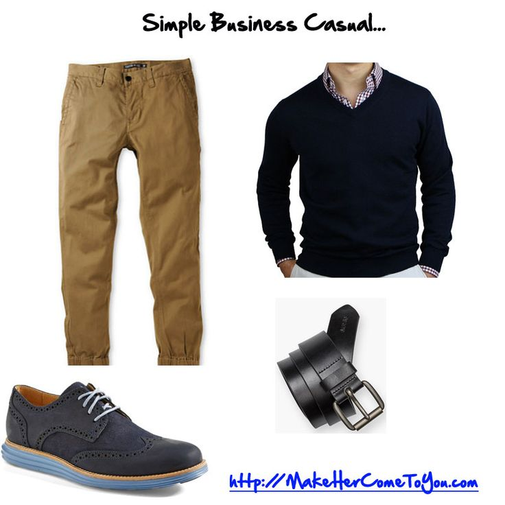 Simple business casual outfit. you can wear the vneck sweater without anything under it. Sweater 5th and Lamar Shoes @colehaan Belt @levis Joggers @zumiez   Free PDF  http://makehercometoyou.com   #mensstyle #mensfashion #mensstreetstyle #dapper #streetstyle #wiwt #mensstyleguide #instafashion #handsomeguysecrets #teamhandsomeguy #datingadvice #firstdate #whathewore #whattowear #mystyle #colehaan #businesscasual