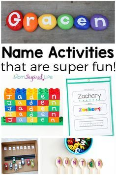 Teaching names to preschoolers can be totally fun when you use these name activities!