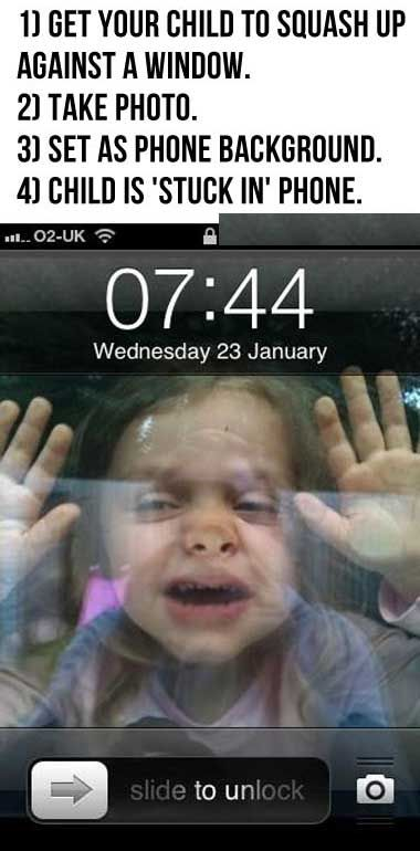 Child is stuck in phone…