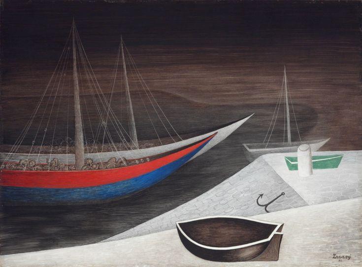 Jan Zrzavý, Spící lodi, 1935
