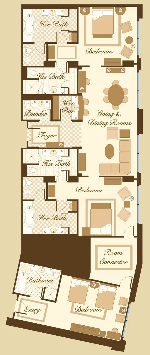 Bellagio floor plan penthouse suite three 512 for 512 plan