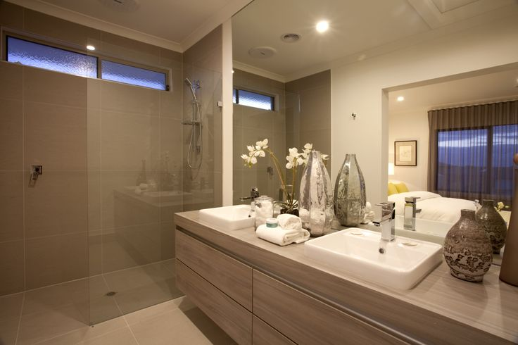 Beautiful ensuite bathroom. Love the walk-in-shower and neutral colours.