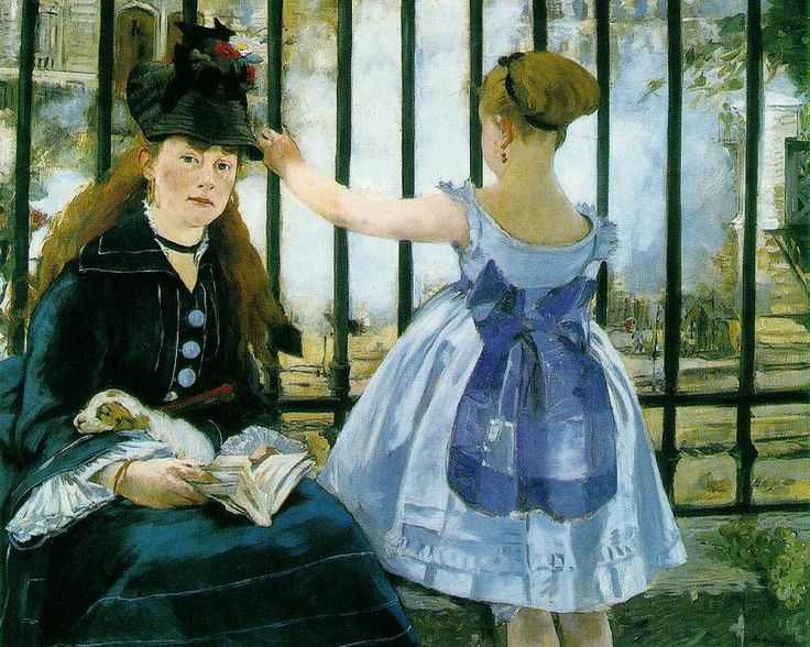 'Le Chemin de Fer' by Eduard Manet    Google Image Result for http://www.ibiblio.org/wm/paint/auth/manet/manet.railroad.jpg