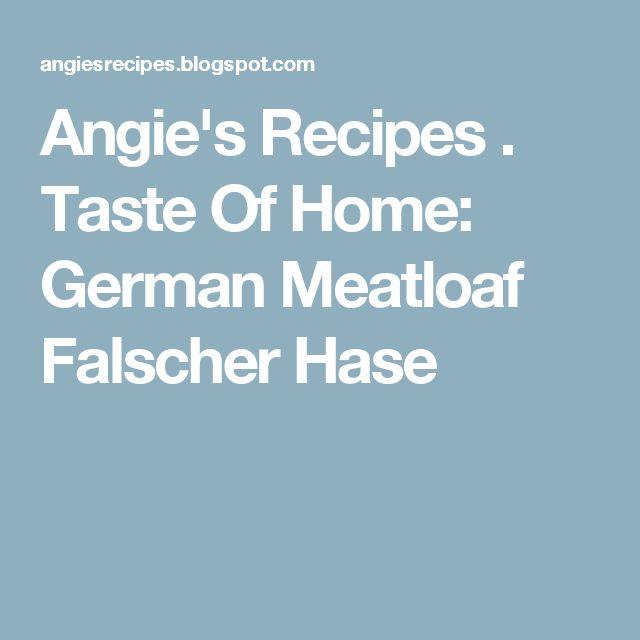 Www meine  Falscher Hase Pinterest'te | Meat Loaf, Leberkäse ve Ddr Rezepte ...