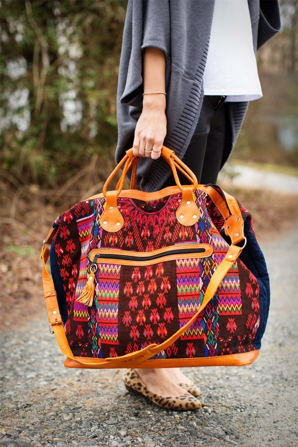 Nena and Co} IHOD- an amazing giveaway for one of these upcycled bags made from old huipils (by a company that creates jobs for women and gives money back to the community!)