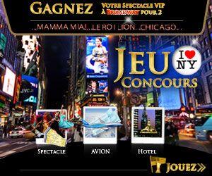 Gagner-Des-Voyages.com: Spectacle VIP à Brodway pour 2 personnes à gagner