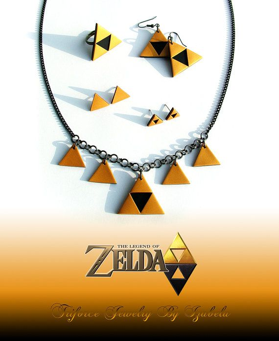 This is a handmade necklace inspired by The legend of Zelda series.